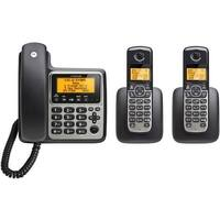 Motorola M803C Dect 6.0 3 Handset Digital Cordless Corded Phone System