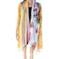 Radzoli Yellow Floral Women's Size Medium M Chiffon Cardigan
