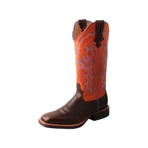 "Twisted X Western Boot Womens 13"" Ruff Stock Block Brown - Chocolate Carrot"
