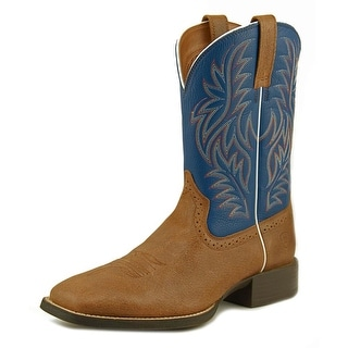 Ariat Sport Western WST Men Square Toe Leather Blue Western Boot