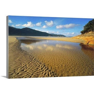"""Tidal River mouth at Norman Bay in Wilsons Promontory National Park,  Australia"" Canvas Wall Art"