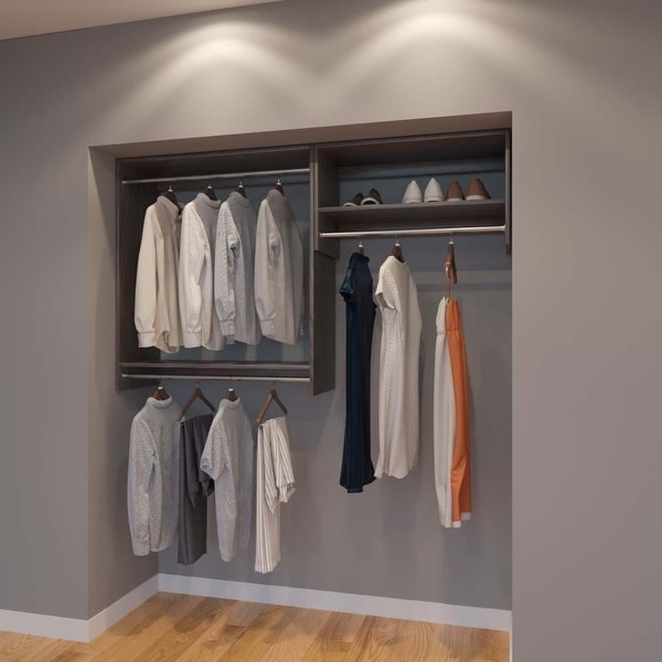 Shop Modular Closets 6 Ft Closet Organizer System 72