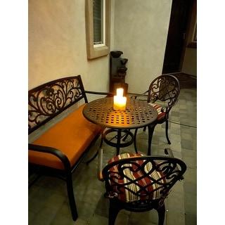 "50"" L Iron Courtyard Garden Backyard Bench Outdoor Leisure Bench - Black - N/A"