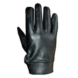 Unisex Soft Lambskin Leather Driving, Dress Fashion Everyday Gloves Black FG4