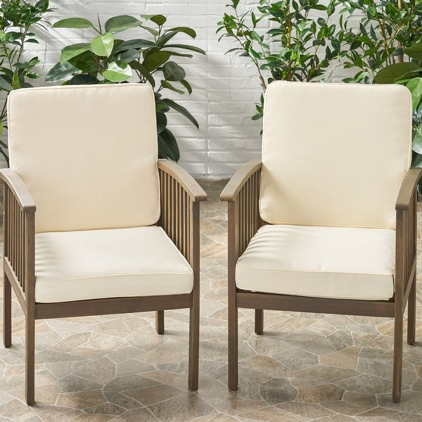 Coesse Outdoor Water Resistant Fabric Club Chair Cushions (Set of 2) by Christopher Knight Home. Opens flyout.