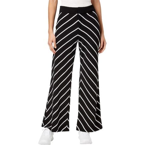 Bar Iii Womens Mixed Stripe Casual Wide Leg Pants