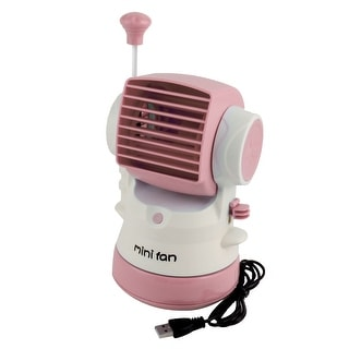 Portable Multipurpose Water Spray USB Powered Personal Mini Fan for Desktop Computer Pink