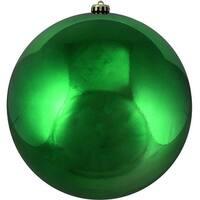 "Xmas Green Commercial Shatterproof Shiny Christmas Ball Ornament 10"" (250mm)"