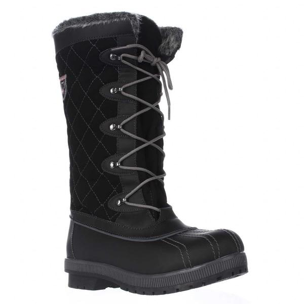Sporto Camille Waterproof Winter Snow Boots, Black