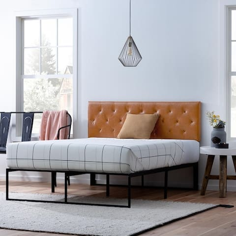 Brookside Adjustable Faux Leather and Metal Contemporary Bed
