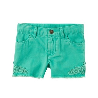 Carter's Baby Girls' Lace Twill Shorts, 6 Months