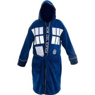 Doctor Who Tardis Police Box Mens Cotton Costume Bathrobe (One Size)
