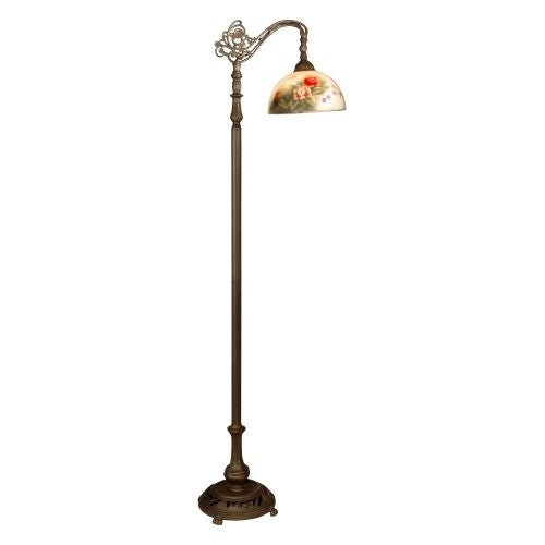 "Dale Tiffany 10057/757 63"" Rose Dome Bridge Lamp with 1 Light"