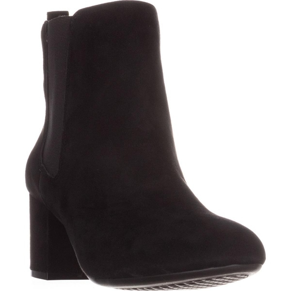Aerosoles Stockholder Ankle Boots, Black Suede