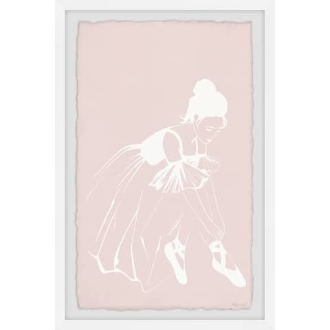 'Untie a Ballet Shoe' Framed Painting Print