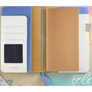 """Color Crush Faux Leather Travelers' Planner 5.75""""X8""""-Periwinkle"""