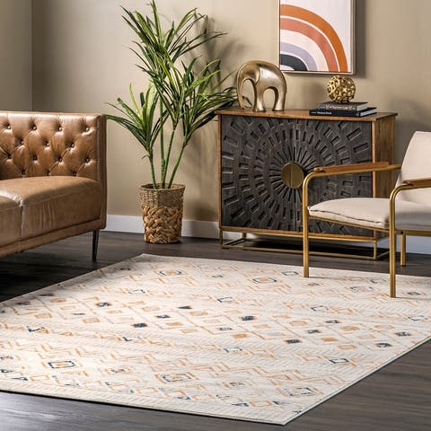 nuLOOM Sevanna Distressed Tribal Trellis Area Rug