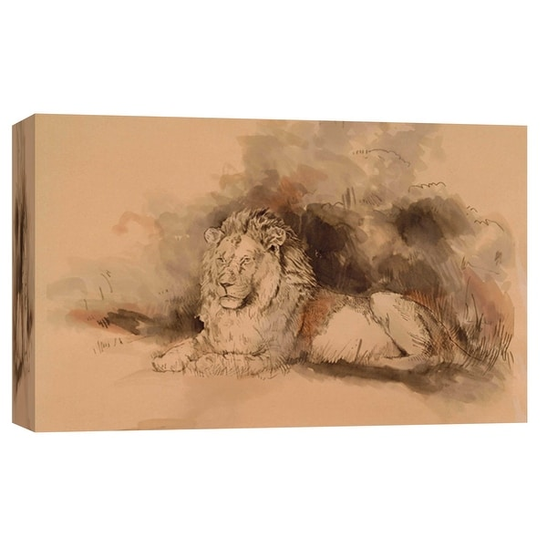 "PTM Images 9-102183 PTM Canvas Collection 8"" x 10"" - ""At Rest"" Giclee Lions Art Print on Canvas"