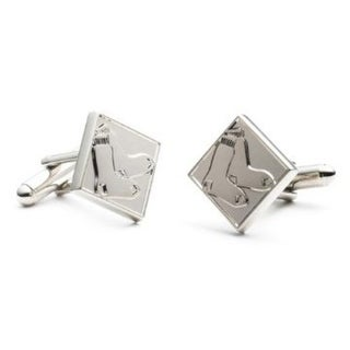 Silver Edition Boston Red Sox Cufflinks