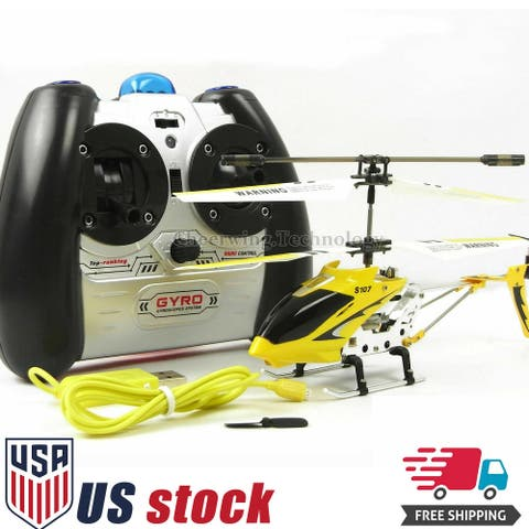 Syma S107G 3CH 3.5CH Mini Metal RC Helicopter Remote Control Vehicle Yellow