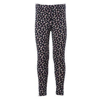 Kids Stretchy Leggings Bottom Trousers black dandelion