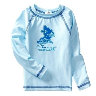 Link to Azul Baby Boys Light Blue Solid Long Sleeved UPF 50+ Rash Guard Similar Items in Girls' Clothing