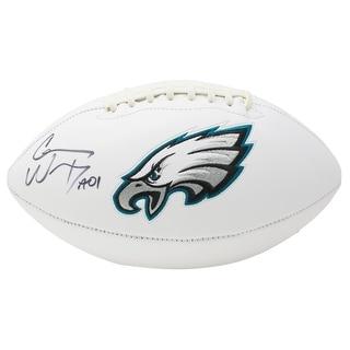 Carson Wentz Signed Philadelphia Eagles Logo Football Fanatics