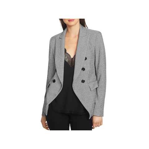 1.State Womens Puppytooth Double-Breasted Blazer Suit Separate Professional - 6