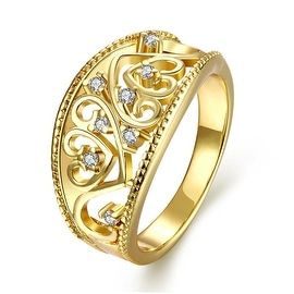 Curved Iron Gold Display Ring