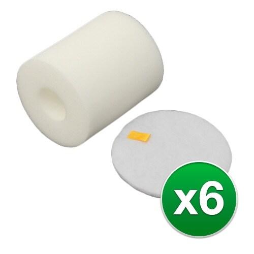 Replacement Vacuum Foam Filter for Shark Rotator Professional Lift-Away Vacuum - 6 Pack