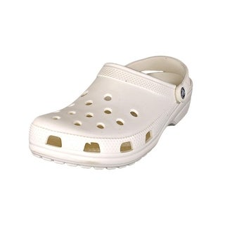 Crocs Classic Men  Round Toe Synthetic White Clogs