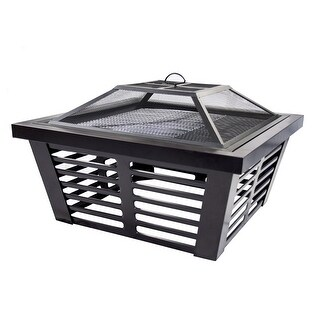 Pleasant Hearth OFW191S Hudson Steel Fire Pit - Black