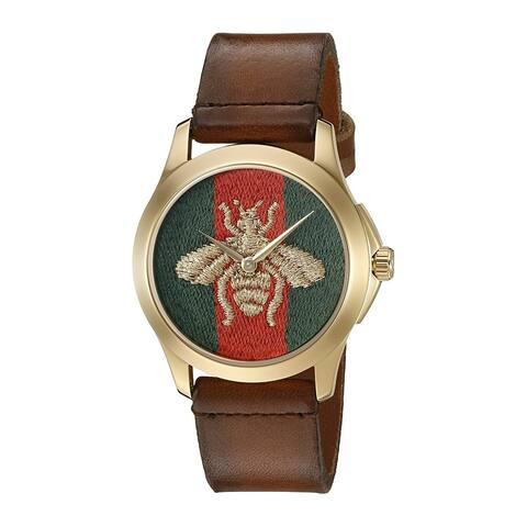 Gucci Unisex Le Marche Des Merveilles Brown Leather Watch - One Size