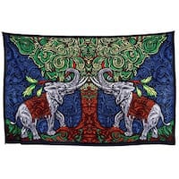 Handmade 100% Cotton 3D Elephant Tapestry Tablecloth Throw Beach Sheet Dorm Decor 60x90