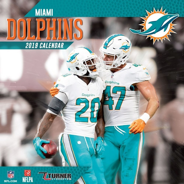 Shop 2019 NFL Miami Dolphins Mini Calendar, by Turner Licensing