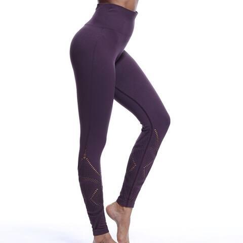Leggings High Waist Hips Tight Stretch Openwork Quick Dry Fitness Yoga Pants Slim