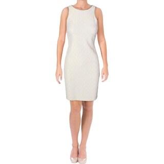Badgley Mischka Womens Special Occasion Dress Metallic Shift