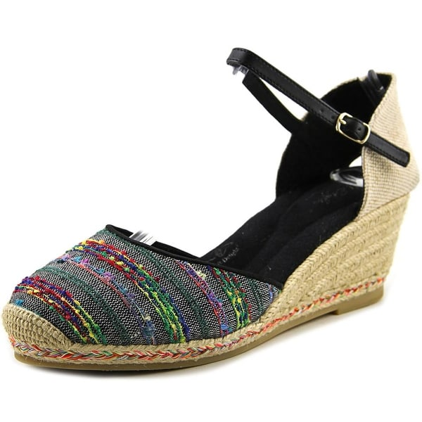 Soft Style by Hush Puppies Pepin Women  Round Toe Canvas Black Espadrille