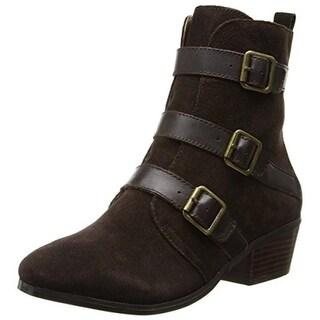Kelsi Dagger Womens Dana Ankle Boots Suede Buckle - 9 medium (b,m)