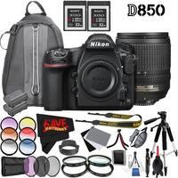 Nikon D850 DSLR Camera (Body Only) 1585 International Model + Nikon AF-S DX NIKKOR 18-105mm f/3.5-5.6G ED VR Lens 2179 Bundle