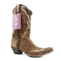 Lucchese Womens M5040.S52f Brown Cowboy, Western Boots Size 10.5