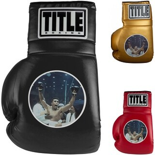"""Title Boxing Jumbo 26"""" Ali Picture Collectible Novelty Boxing Glove (Option: GOLD)"""