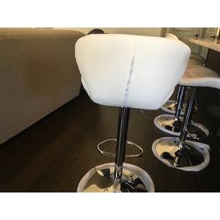 Porch & Den Graffian Adjustable Height Bar Stool with Chrome Base
