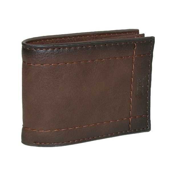 Levis Men's Leather Extra Capacity Semifold Bifold Wallet - One size