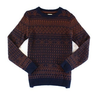 SELECTED HOMME NEW Blue Red Mens Size Small S Crewneck Wool Sweater
