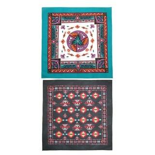 CTM® Women's Aztec and Apache Southwestern Print Bandana Kit (Pack of 2) - One size