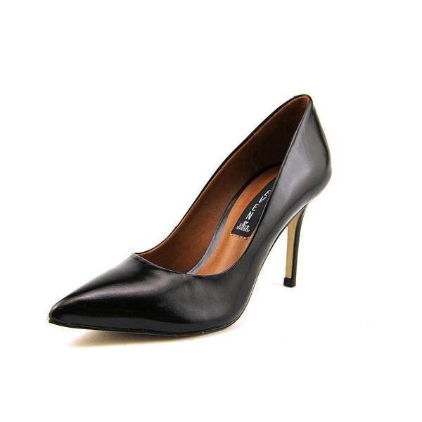 Steven Steve Madden Shiela Women  Pointed Toe Leather Black Heels