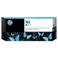 HP 745 300-ml DesignJet Cyan Ink Cartridge (F9K03A)(Single Pack)