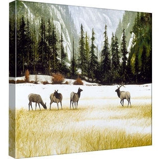 "PTM Images 9-97803  PTM Canvas Collection 12"" x 12"" - ""The Approach"" Giclee Elk Art Print on Canvas"