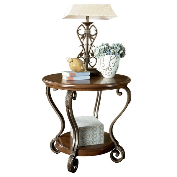T517 0 Ashley Furniture Nestor: Shop Ashley T517-6 Nestor Medium Brown Round End Table W